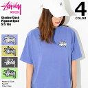 ステューシー STUSSY Tシャツ 半袖 レディース WOMEN Shadow Stock Pigment Dyed(stussy tee ピグメント ティーシャツ カットソー トップス ガールズ ウーマンズ ウィメンズ Ladys 2902953 USAモデル 正規 品 ストゥーシー スチューシー)[M便 1/1]