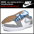 ナイキ NIKE スニーカー エア ジョーダン レトロ V.1 White/Blue/Stealth メンズ(男性用) (nike AIR JORDAN RETRO V.1 BRAND JORDAN LEGACY 481177-106) ice filed icefield