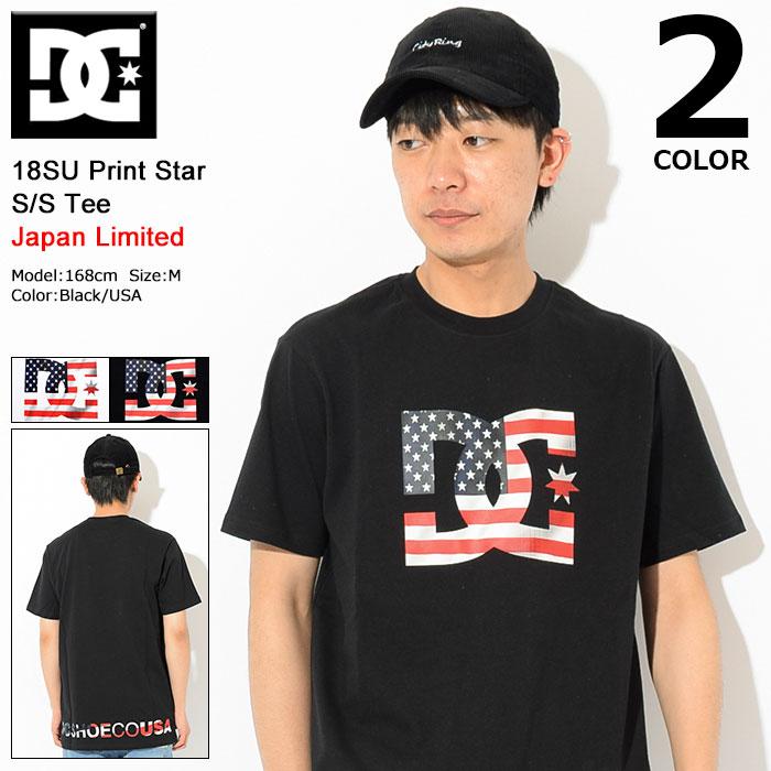 ディーシー DC Tシャツ 半袖 メンズ 18SU プリント スター 日本限定(dc 18SU Print Star S/S Tee Japan Limited ティーシャツ T-SHIRTS トップス メンズ 男性用 5226J802)[M便 1/1]