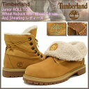 ティンバーランド Timberland ブーツ キッズモデル レディース対応サイズ ジュニア ロールトップ ウィート ヌバック ウィズ ウィート キャンバス アンド シャーリング(43959 ROLL TOP Wheat Nubuck With Wheat Canvas And Shearling LADYS・靴 レディース靴) 05P03Dec16