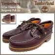 ティンバーランド Timberland デッキシューズ メンズ スリーアイ クラシック ラグ バーガンディー プルアップ(timberland 50009 3 Eye Classic Lug Burgundy Pull Up 赤茶レザー モカシン メンズ靴 シューズ SHOES)