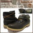 ティンバーランド Timberland ブーツ アイコン ロールトップ レザー アンド ファブリック ダークブラウン オイルド ウィズ ナチュラル ウールリッチ ブラー(6830A ICON ROLL TOP Boot BOOT BOOTS メンズ・靴 MENS ティンバ-ランド ティンバ−ランド)
