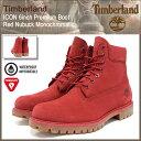 【12/12入荷予定】ティンバーランド Timberland ブーツ メンズ アイコン 6インチ プレミアム レッド ヌバック モノクロマチック(timberland A1149 ICON 6inch Premium Boot Red Nubuck Monochromatic 防水 シックスインチ 男性 紳士用 MENS・靴 メンズ靴)