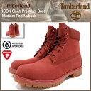 ティンバーランド Timberland ブーツ メンズ アイコン 6インチ プレミアム ミディアム レッド ヌバック(timberland A1FXW ICON 6inch Premium Boot Medium Red Nubuck 防水 シックスインチ 男性 紳士用 MENS・靴 メンズ靴) ice filed icefield