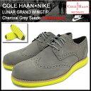 ������̵���ۥ�����ϡ��� COLE HAAN��NIKE ��� ������ �������å� ���㥳���륰�졼 �������� ����� ���(���� �»���) (cole haan��nike LUNAR GRAND WINGTIP Charcoal Grey Suede �ʥ��� C10226)