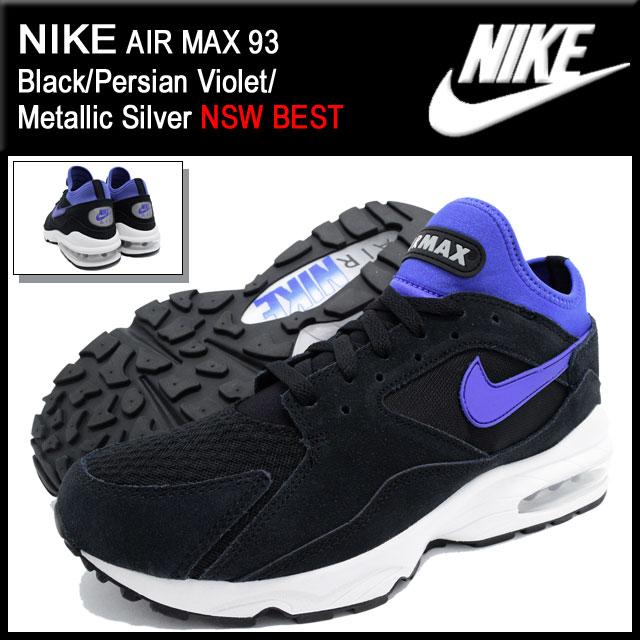 ナイキ NIKE スニーカー エア マックス 93 Black/Persian Violet/Metallic Silver 限定 メンズ(男性用) (nike AIR MAX 93 NSW BEST Sneaker MENS靴 シューズ SHOES スニーカ 306551-015)