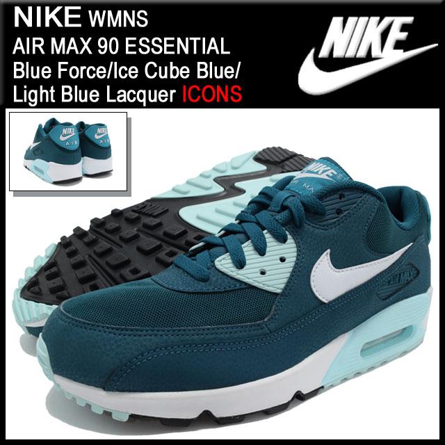 ナイキ NIKE スニーカー ウーマンズ エア マックス 90 エッセンシャル Blue Force/Ice Cube Blue/Light Blue Lacquer 限定 メンズ(男性用) (nike WMNS AIR MAX 90 ESSENTIAL ICONS Sneaker MENS靴 シューズ SHOES スニーカ 616730-400)