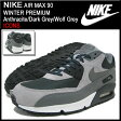 ナイキ NIKE スニーカー エア マックス 90 ウィンター プレミアム Anthracite/Dark Grey/Wolf Grey 限定 メンズ(男性用) (nike AIR MAX 90 WINTER PREMIUM ICONS Sneaker sneaker SNEAKER MENS・靴 シューズ SHOES スニーカ 683282-001) ice filed icefield