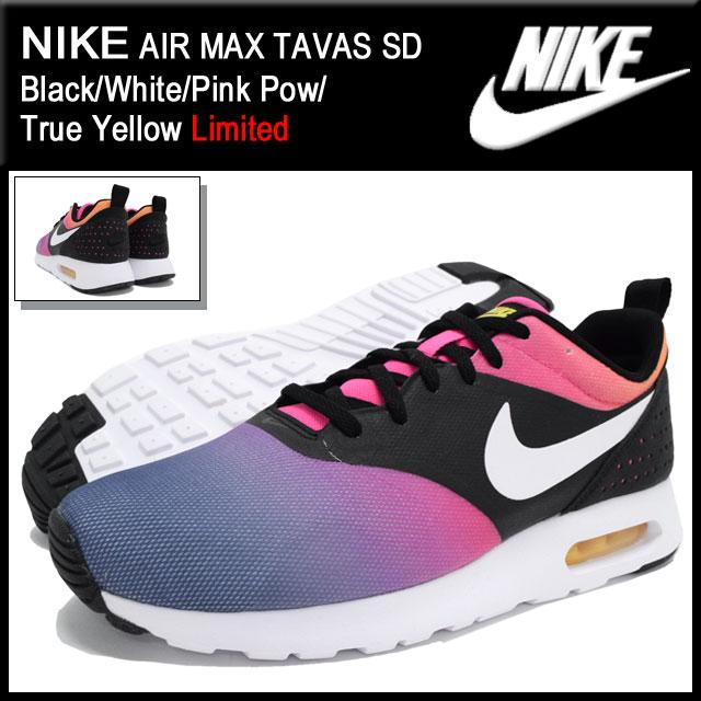 ナイキ NIKE スニーカー エア マックス タバス SD Black/White/Pink Pow/True Yellow 限定 メンズ(男性用) (nike AIR MAX TAVAS SD Limited Sneaker MENS靴 シューズ SHOES スニーカ 724765-005)