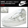 ナイキ NIKE スニーカー エア フォース 1 ハイ 07 Summit White/Matte Silver ICONS メンズ(男性用) (nike AIR FORCE 1 HIGH 07 ICONS Sneaker sneaker SNEAKER MENS・靴 シューズ SHOES スニーカ 315121-111) ice filed icefield