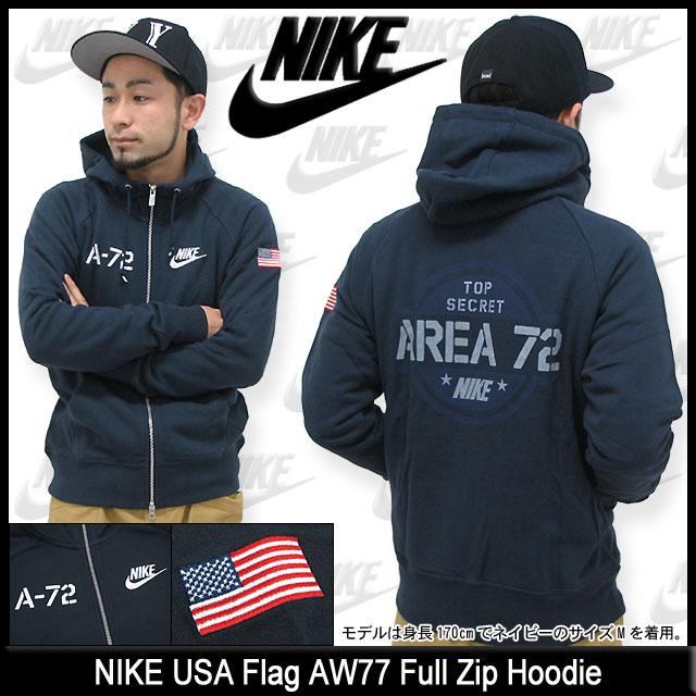 ナイキ NIKE USA フラッグ AW77 フルジップフード(nike USA Flag AW77 Full Zip Hoodie パーカー フード フーディ トップス Zip up Hoody Parker フルジップ メンズ 男性用 605418)