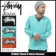 ショッピングSTUSSY ステューシー STUSSY Stock V-Neck セーター(stussy sweater ニット トップス メンズ・男性用 117016 Stussy stussy ストゥーシー スチューシー)