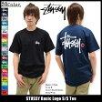 ショッピングSTUSSY ステューシー STUSSY Tシャツ Basic Logo ベーシックロゴ【メンズ】【トップス】【Tシャツ】【半袖】【ストリート】【TEE】