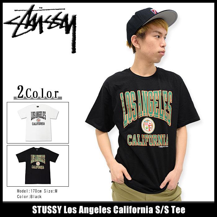ステューシー STUSSY Tシャツ 半袖 メンズ Los Angeles California(stussy tee ティーシャツ T-SHIRTS カットソー トップス メンズ・男性用 1903855 USAモデル 正規 品 ストゥーシー スチューシー)[M便 1/1] ice filed icefield