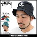 ステューシー STUSSY バケット ハット SS Link Bucket Hat 帽子(stussyhat メンズ・男性用 132754 132726 132719 ストゥーシー スチューシー) ice filed icefield