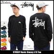 ステューシー STUSSY Tシャツ 長袖 メンズ Basic Stussy(stussy tee ティーシャツ T-SHIRTS カットソー トップス ロング ロンティー ロンt ベーシック メンズ・男性用 1993891 ストゥーシー スチューシー) ice filed icefield