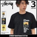 【6/26入荷予定】ステューシー STUSSY Tシャツ 半袖 メンズ Gold Coast(stussy tee ティーシャツ T-SHIRTS カットソー トップス メンズ・男性用 1904015 ストゥーシー スチューシー) ice filed icefield