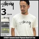 【6/26入荷予定】ステューシー STUSSY Tシャツ 半袖 メンズ Smooth Stock Pigment Dyed(stussy tee ティーシャツ T-SHIRTS カットソー ..