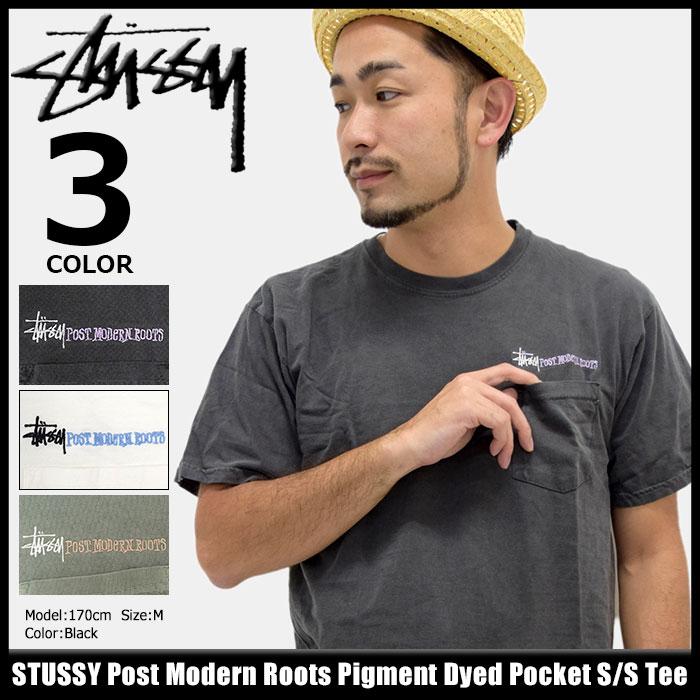 ステューシー STUSSY Tシャツ 半袖 メンズ Post Modern Roots Pigment Dyed Pocket(stussy tee ポケット ティーシャツ T-SHIRTS カットソー トップス メンズ 1944082 ストゥーシー スチューシー)[M便 1/1]