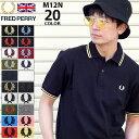 【ポイント10倍】フレッドペリー FRED PERRY ポロシャツ 英国製 半袖 メンズ M12N ...