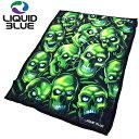 楽天ice field(アイスフィールド)リキッド ブルー LIQUID BLUE ブランケット スカル パイル フリース スロー(LIQUIDBLUE Skull Pile Fleece Throw Blanket ひざ掛け メンズ 男性用 81015)