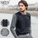 エスアールエス SRES セーター メンズ プロバー スイッチ ニット(SRS Plover Switch Knit Sweater クルーネック トップス プロジェクトエスアールエス) ice filed icefield