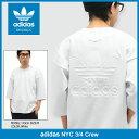 アディダス adidas カットソー 七分袖 メンズ NYC オリジナルス(adidas NYC 3/4 Crew Originals Tee ティーシャツ T-SHIRTS トップス 7分袖 メンズ 男性用 BJ9992) ice filed icefield