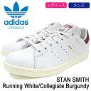 アディダス adidas スタンスミス スニーカー レディース & メンズ ホワイト/バーガンディー 白/赤 CQ2195
