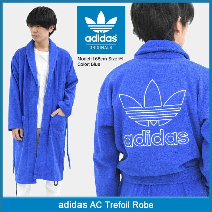 アディダス adidas バスローブ メンズ AC トレフォイル ローブ オリジナルス(adidas AC Trefoil Robe Originals Bathrobe ナイトウェア ルームウェア メンズ 男性用 CF6936)