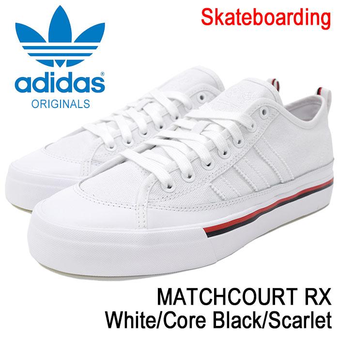 アディダス adidas スニーカー メンズ 男性用 マッチコート RX White/Core Black/Scarlet オリジナルス(adidas MATCHCOURT RX Originals Skateboarding スケートボーディング NA-KEL SMITH ナケル・スミス ホワイト 白 SNEAKER MENS・靴 シューズ SHOES CG5668)
