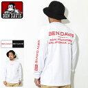 ベンデイビス BEN DAVIS Tシャツ 長袖 メンズ レターズ ( BENDAVIS G-0380025 Letters L/S Tee ティーシャツ T-SHIRTS カットソー ロング ロンティー ロンt トップス ベン デイビス ベン・デイビス ベンデービス )