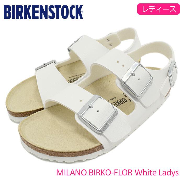 ビルケンシュトック BIRKENSTOCK サンダル レディース 女性用 ミラノ ビルコフロー White(birkenstock MILANO BIRKO-FLOR 幅狭 ナロー ガールズ ウーマンズ ウィメンズ WOMENS ホワイト 白 SANDAL LADIES・靴 シューズ SHOES GC034733) ice filed icefield