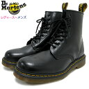 ドクターマーチン Dr.Martens ブーツ 8ホール レディース & メンズ 1460 8アイ ブーツ ブラック ( DR.MARTENS 1460 8 EYE BOOT Black 8..