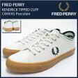 フレッドペリー FRED PERRY スニーカー メンズ 男性用 ケンドリック ティップ カフ キャンバス Porcelain(FREDPERRY B5210U-254 KENDRICK TIPPED CUFF CANVAS オフホワイト MENS・靴 シューズ フレッド ペリー フレッド・ペリー) ice filed icefield