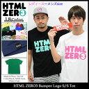 エイチティエムエル ゼロスリー HTML ZERO3 Tシャツ 半袖 メンズ & レディース バンパー ロゴ(html zero3 Bumper Logo S/S Tee ティーシャツ T-SHIRTS カットソー トップス エイチティーエムエル)