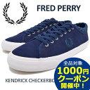 フレッドペリー FRED PERRY スニーカー メンズ 男性用 ケンドリック チェッカーボード カフ ヌバック Mid Imperial(FREDPERRY B1210-458 KENDRICK CUFF NUB ネイビー 紺 SNEAKER MENS 靴 シューズ SHOES フレッド ペリー フレッド ペリー)