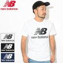 ニューバランス new balance Tシャツ 半袖 メンズ エッセンシャル スタックド ロゴ(new balance Essential Stacked Logo S/S Tee ティーシャツ T-SHIRTS カットソー トップス メンズ 男性用 AMT91546)[M便 1/1]