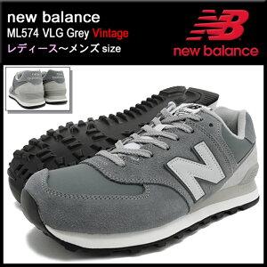 ニューバランスnewbalanceスニーカーレディース&メンズML574VLGグレービンテージ(NEWBALANCEML574VLGGreyVintageSNEAKERLADIESMENS・靴シューズSHOESML574-VLG)icefiledicefield