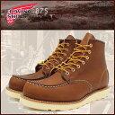 レッドウィング RED WING 875 6インチ モカシン トゥ ブーツ 茶 レザー MADE IN USA アイリッシュセッター メンズ(男性 紳士用)(red wing REDWING レッド ウィング ウイング BOOTS boots レッドウイング レッド・ウィング ワーク ブーツ 靴・ブーツ) 05P03Dec16