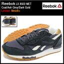 リーボック Reebok スニーカー メンズ 男性用 LX 8500 MET Coal/Ash Grey/Dark Gold 限定(reebok LX 8500 MET Limited Metallic チャコールグレー 灰色 SNEAKER MENS・靴 シューズ SHOES V67561) ice filed icefield