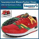 サッカニー Saucony スニーカー メンズ 男性用 ジャスト・ブレイズ パッカーシューズ グリッド SD Red/Green/Yellow カジノ(SAUCONY S70226-1 Saucony×Just Blaze×Packer Shoes GRID SD ローカット MENS・靴 シューズ SHOES)