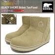 ソレル SOREL ブーツ レディース 女性用 グレイシー ショート British Tan/Fossil ウィメンズ(Sorel GLACY SHORT WOMENS 防水 Boot Boots スノー・ブーツ ウィンター・ブーツ 靴・ブーツ soreru Ladys ウーマンズ グレー 灰色 LL5195-265)