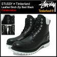ステューシー STUSSY×Timberland レザー 6インチ ジップ ブーツ ブラック コラボ メンズ(STUSSY×Timberland ティンバーランド Leather 6inch Zip Boot Black Wネーム 6236A Stussy stussy ストゥーシー スチューシー)