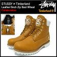 【2月下旬入荷予定】ステューシー STUSSY×Timberland レザー 6インチ ジップ ブーツ ウィート コラボ メンズ(ティンバーランド Leather 6inch Zip Boot Wheat Wネーム 6237A Stussy stussy ストゥーシー スチューシー)