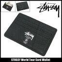 ステューシー STUSSY World Tour Card ウォレット(stussy wallet 財布 カードケース メンズ・男性用 136100 Stussy stussy ストゥーシー スチューシー) ice filed icefield
