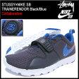 ステューシー STUSSY×NIKE SB トレーナーエンドー Black/Blue コラボ メンズ(男性用) (stussy×nike SB TRAINERENDOR ナイキ Wネーム Blueprint/Prize Blue-White-Flat Platinum 634928-560 Stussy stussy ストゥーシー スチューシー 小物)