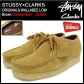ステューシー STUSSY ブーツ メンズ 男性用 クラークス オリジナルス ワラビー ロー ブラウン コラボ(stussy×CLARKS ORIGINALS WALLABEE Brown 35周年 338104 BOOTS ブーツ モカシン ステューシー×クラークス ストゥーシー スチューシー)