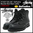 ステューシー STUSSY×BePositive マウンテンブーツ 黒レザー コラボ メンズ(STUSSY×BePositive ビーポジティブ Mountain Boot Black Leather DELUXE デラックス Wネーム 4038025 スチューシー 小物) ice filed icefield