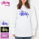 ステューシー STUSSY Tシャツ 長袖 レディース WOMEN Basic Logo ( stussy tee ティーシャツ トップス ロンティー ロンt ガールズ ウーマンズ 女性用 ビッグシルエット オーバーサイズ 2992599 USAモデル 正規 品 ストゥーシー スチューシー )