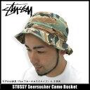 ステューシー STUSSY Seersucker Camo ハット(stussy hat ハット メンズ 男性用 0320004)